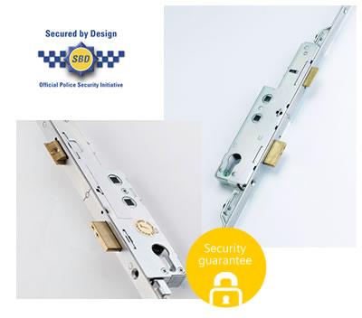 Security lock for doors