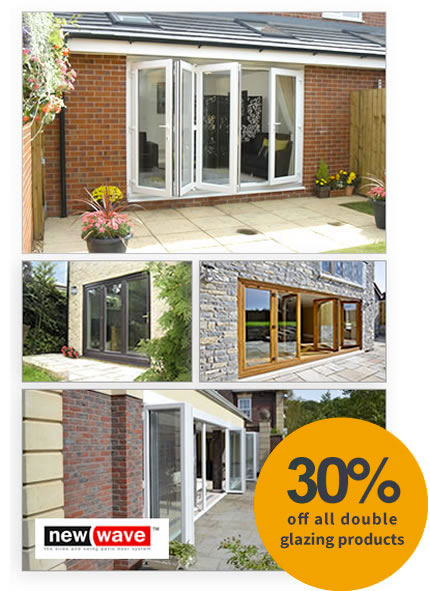 uPVC bi-fold doors including New Wave doors