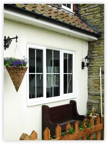 White PVCu Casement Window