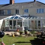 Large conservatory in white uPVC