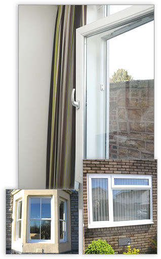 A mix of uPVC windows - casement, sash and tilt