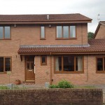 home with upvc roofline