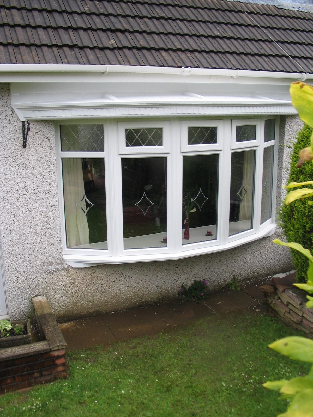 Upvc bow windows in south wales falcon installations