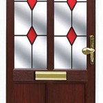 Delphine door with glass decorative glass