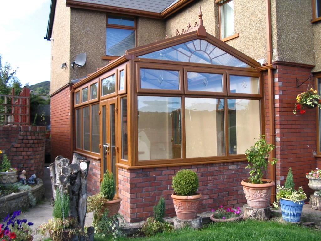 light oak effect upvc conservatory
