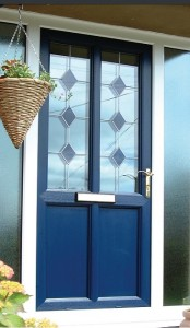 navy blue vintage door