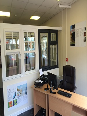 Windows in our Talbot Green showroom