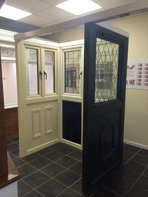 Selection of doors in our Talbot green showroom