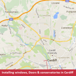 Falcon map of Cardiff
