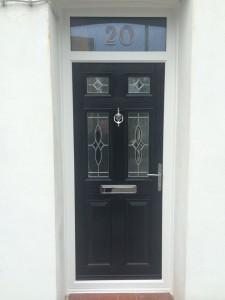 Black entrance door