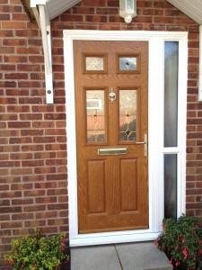 Golden Oak door