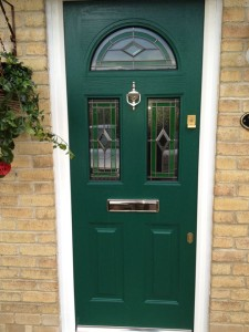 Olive Green upvc door