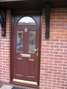 Rosewood entrance door
