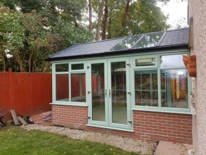 Ultraframe Chartwell green conservatory