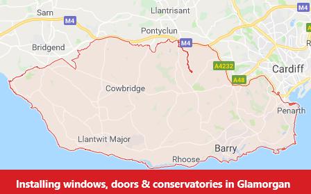 Map of Glamorgan