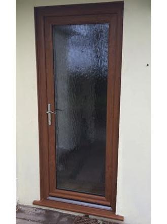 Falcon customer - new Oak effect back door