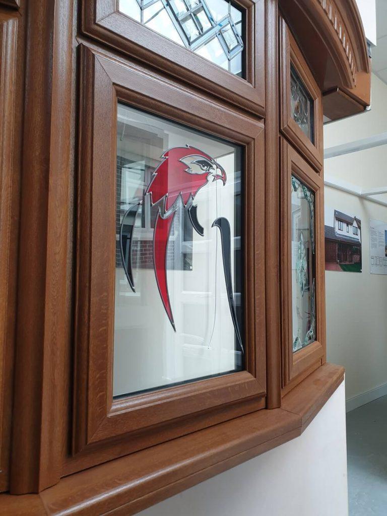 Falcon logo Bridgend showroom