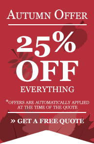 Autumn Offer - 25% off everything