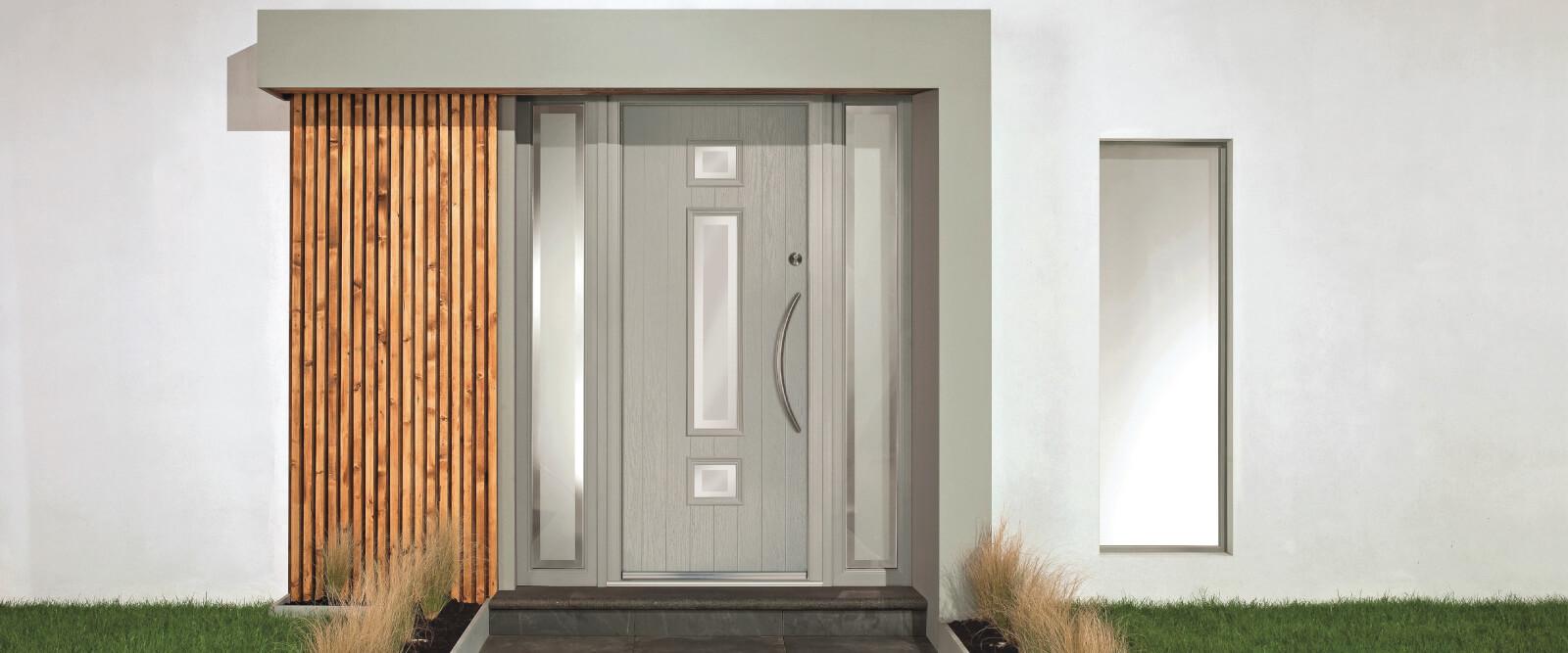 Grey apeer composite door