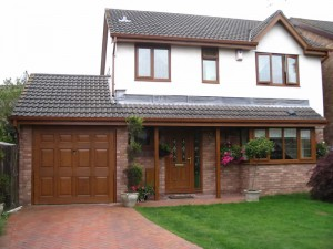 Timber effect uPVC fascias, soffits and guttering
