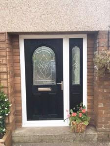Composite Door with Side Fanlight