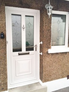 Front Door with Frosted Glass