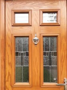 Golden Oak uPVC Door Detail