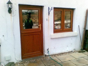 Light Oak uPVC Back Door