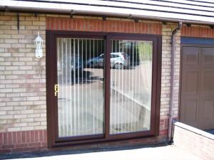 Mahogany uPVC Sliding Patio Doors
