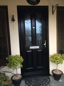 Black-composite-door
