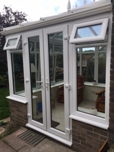Conservatory with french doors