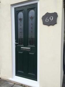 Green-composite-door