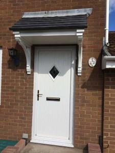 White-composite-door