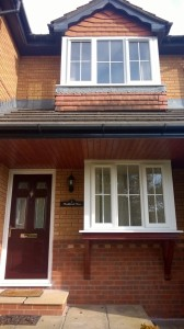 Rosewood Door and White uPVC Windows