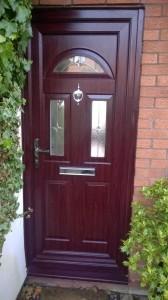 uPVC Rosewood Door