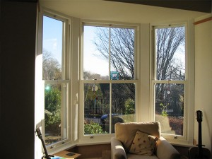 White uPVC Box Sash Window